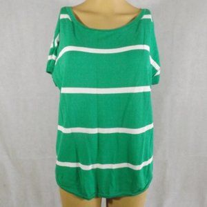 Womens TALBOTS Sweater - Green/White - Sz MED